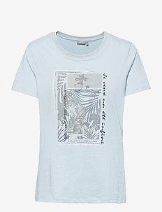 FRVEKAM 2 T-shirt - t-shirts - cashmere blue