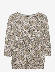 FRPEFLORAL 1 T-shirt - long-sleeved tops - green flower mix