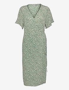 FRALCRINKLE 2 Dress - zomerjurken - clover green mix
