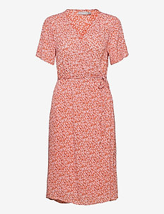 FRALCRINKLE 2 Dress - zomerjurken - dusty orange mix