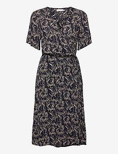 FRALCRINKLE 2 Dress - robes d'été - navy blazer mix
