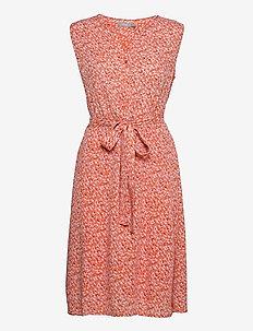 FRALCRINKLE 3 Dress - zomerjurken - dusty orange mix
