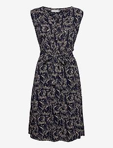 FRALCRINKLE 3 Dress - zomerjurken - navy blazer mix