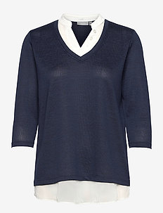 FRVEREXAN 1 Pullover - jumpers - navy blazer melange