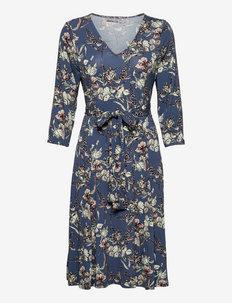 FRBEDOT 1 Dress - midi jurken - bering sea mix