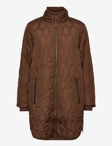 FRBAQUILT 1 Outerwear - steppjacken - gold brown
