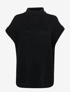 FABERETTA 4 Poncho - strikkede toppe - black