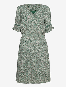 FRALCRINKLE 5 Dress - zomerjurken - clover green mix