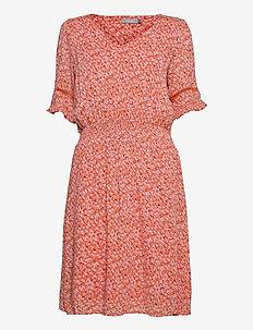 FRALCRINKLE 5 Dress - zomerjurken - dusty orange mix