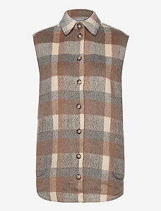 FXTACHECK 3 Waistcoat - overskjorter - oxford tan mix