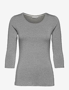 Kikse Tshirt - long-sleeved tops - asphalt melange