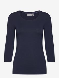 Kikse Tshirt - long-sleeved tops - (noos) dark peacoat