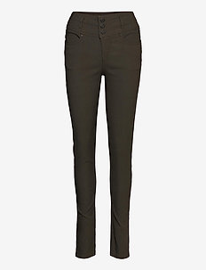 Zalin 2 Pant - trousers with skinny legs - green ink