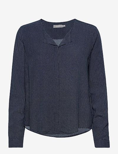 FRHAZAVISK 1 Shirt - langærmede bluser - navy blazer mix