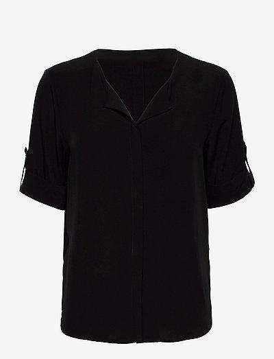 FRHAZAVISK Shirt - kortærmede bluser - black