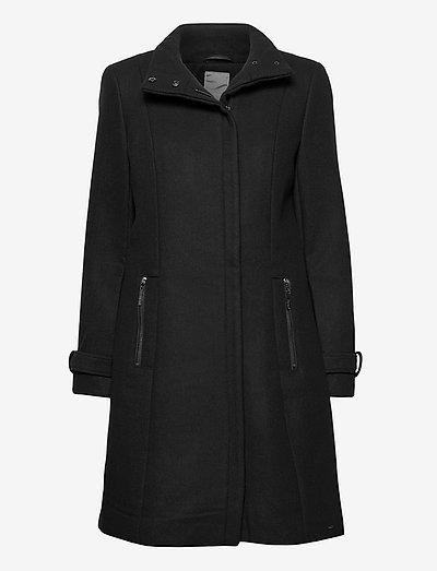 FRLAWOOLY 1 Outerwear - vinterfrakker - black