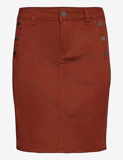 FRLOMAX 3 Skirt - korte nederdele - burnt henna