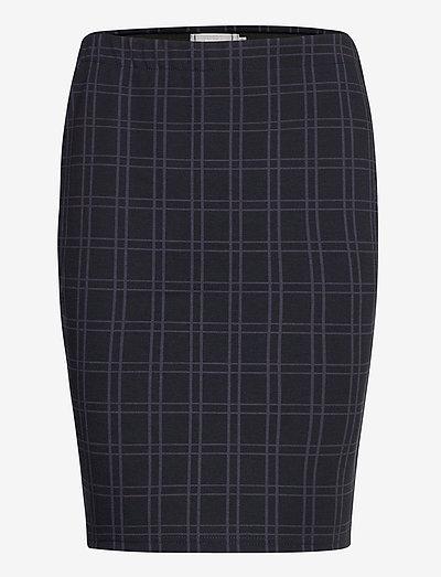 FRMECHECK 4 Skirt - pencil skirts - navy blazer mix