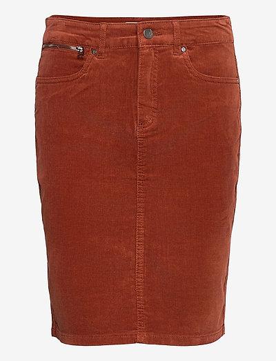 FRMACORD 2 Skirt - pencil skirts - burnt henna