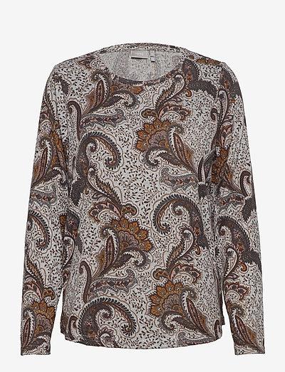 FRMESOFT 1 Pullover - langærmede toppe - light grey mel. w. paisley