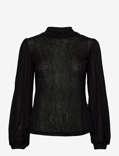FRMELEAF 1 Blouse - langærmede bluser - black
