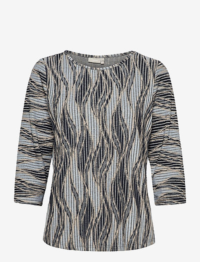 FRPEMISO 1 T-shirt - langærmede toppe - navy blazer mix