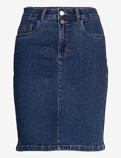 FRVOCUT 3 Skirt - denimnederdele - glossy blue denim