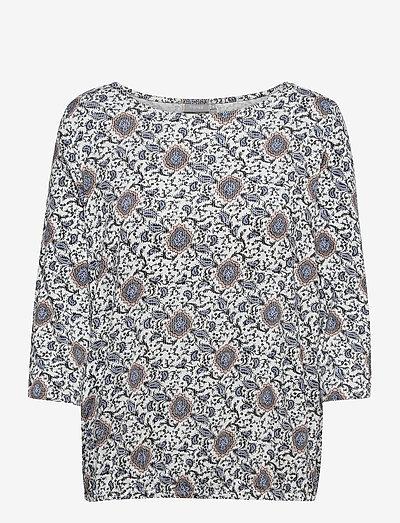 FRPEFLORAL 1 T-shirt - langærmede toppe - blue flower mix