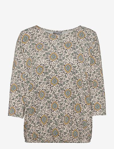 FRPEFLORAL 1 T-shirt - langærmede toppe - green flower mix