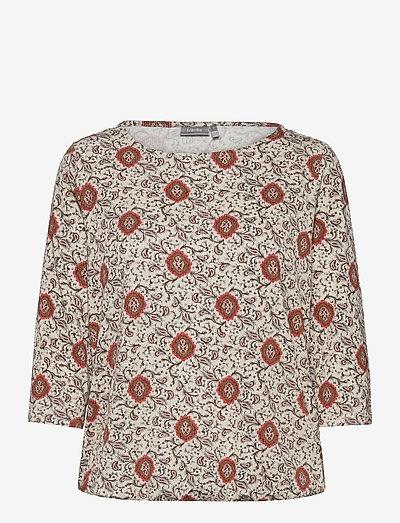 FRPEFLORAL 1 T-shirt - langærmede toppe - red flower mix