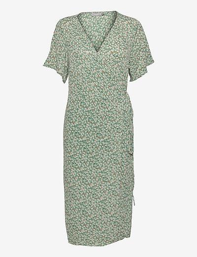 FRALCRINKLE 2 Dress - sommerkjoler - clover green mix