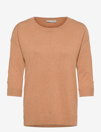 FRBESMOCK 2 Pullover - - strikkede toppe - tobacco brown melange