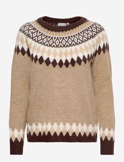 FRCEISLAND 2 Pullover - trøjer - coffee bean mix