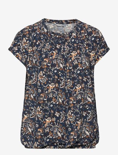 FRCESEEN 2 T-shirt - kortærmede bluser - blue flower mix