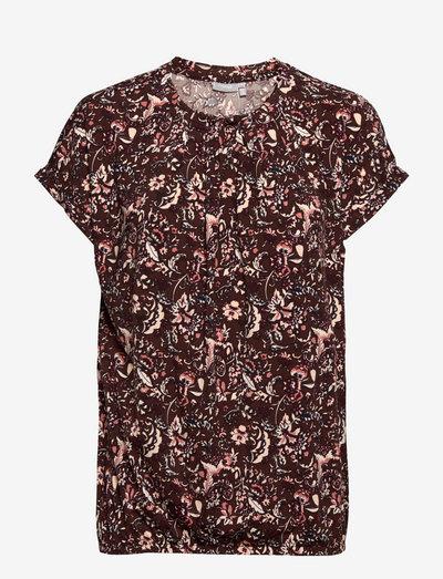 FRCESEEN 2 T-shirt - kortærmede bluser - brown flower mix