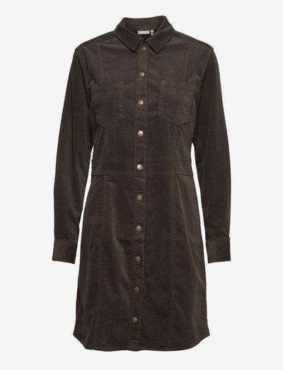 FRCACORD 5 Dress - skjortekjoler - green ink