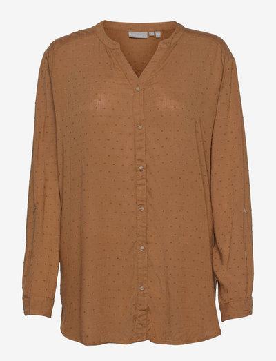 FR BAJOY Shirt - langærmede skjorter - tobacco brown