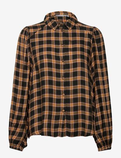FRCALINE 4 Shirt - langærmede skjorter - green ink mix