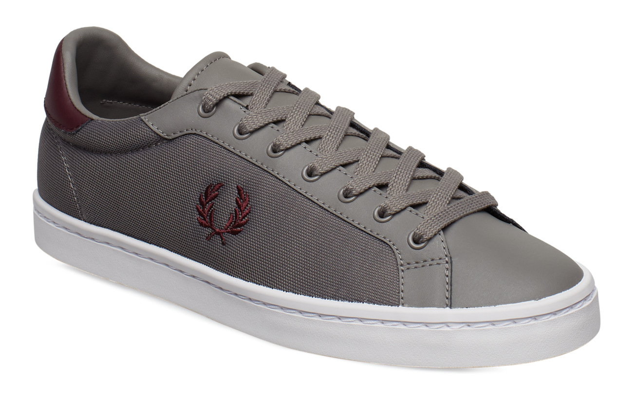 Fred Perry LAWN LTH/MESH - FALCON GREY
