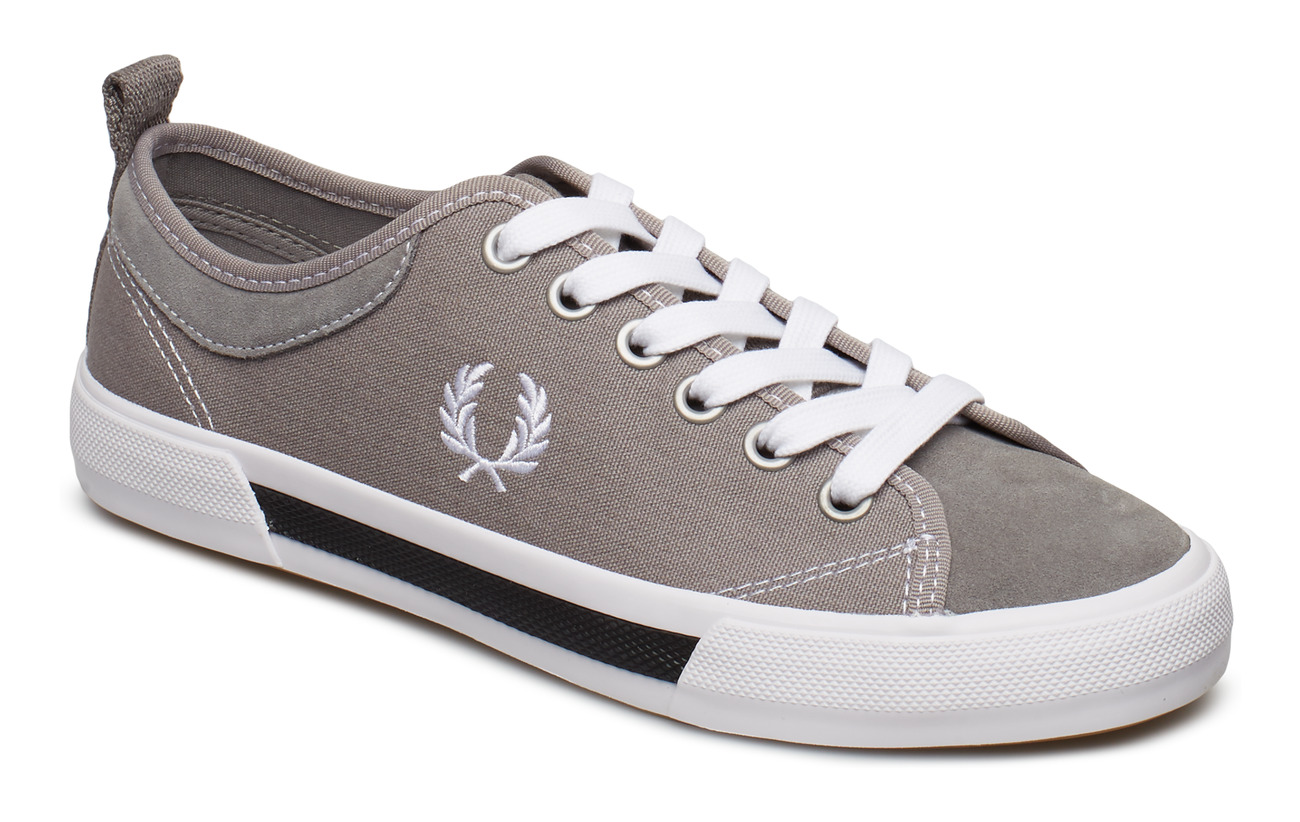 Fred Perry HORTON CANV/SUEDE - FALCON GREY