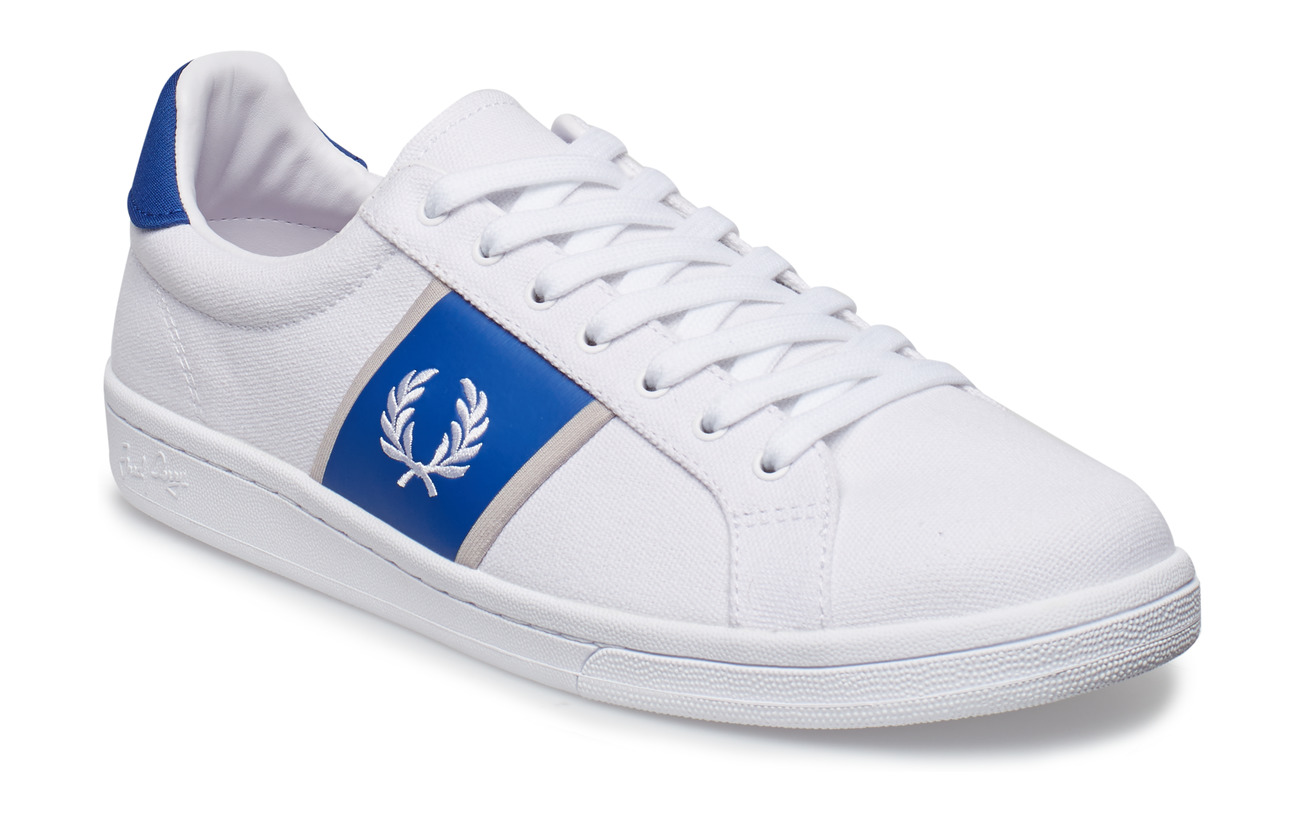 Fred Perry B721 CANVAS/TRICOT - WHITE/WHITE