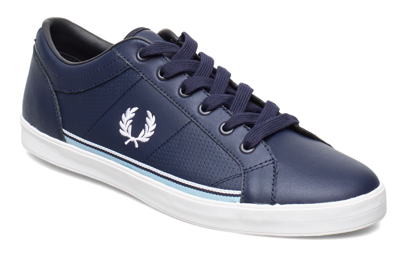 Fred Perry BASELINE PERF LEATHER - CARBON BLUE