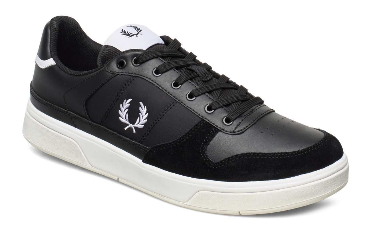 Fred Perry B300 LEATHER/POLY - BLACK