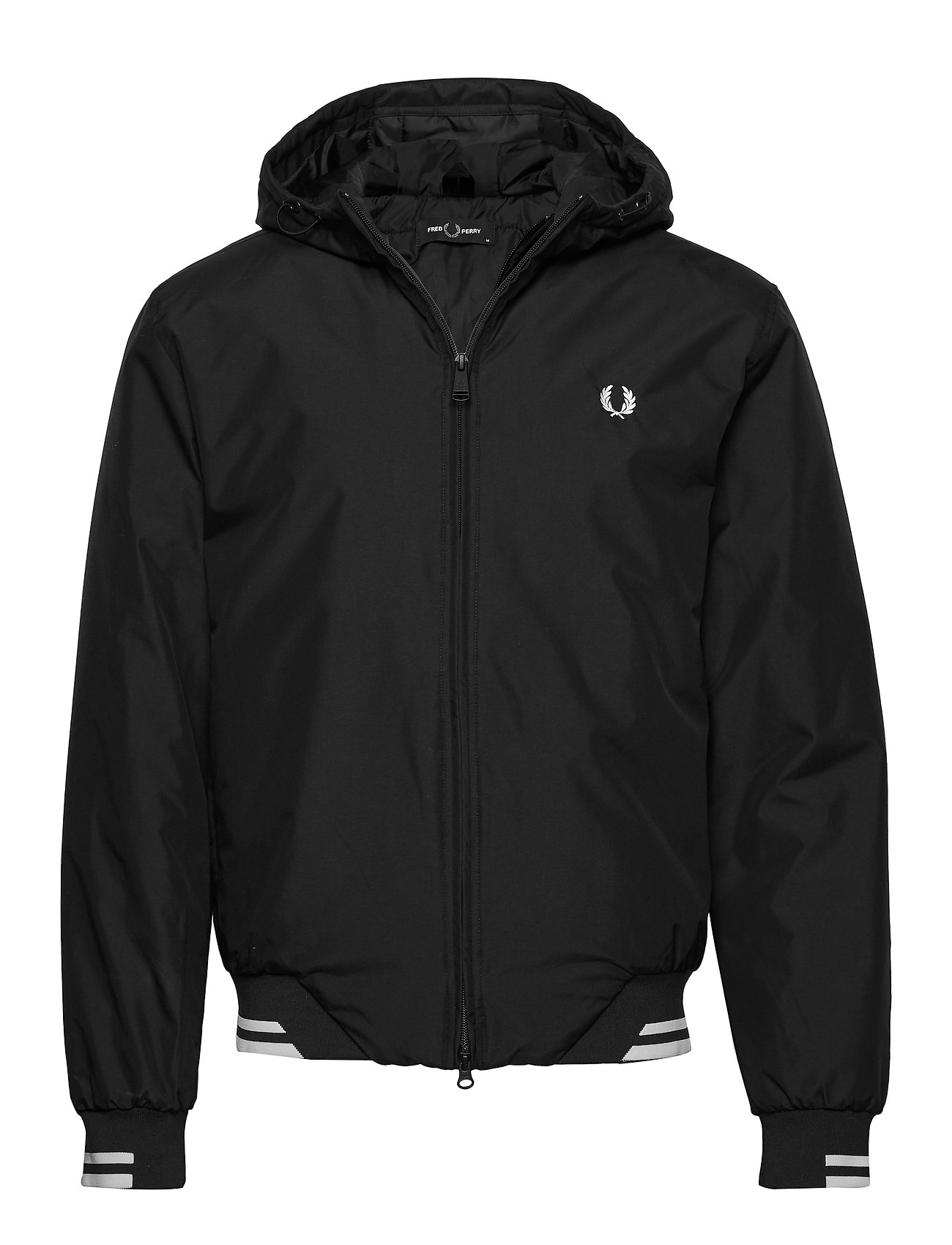 Fred Perry PADDED HOODED SPORTS JKT - BLACK