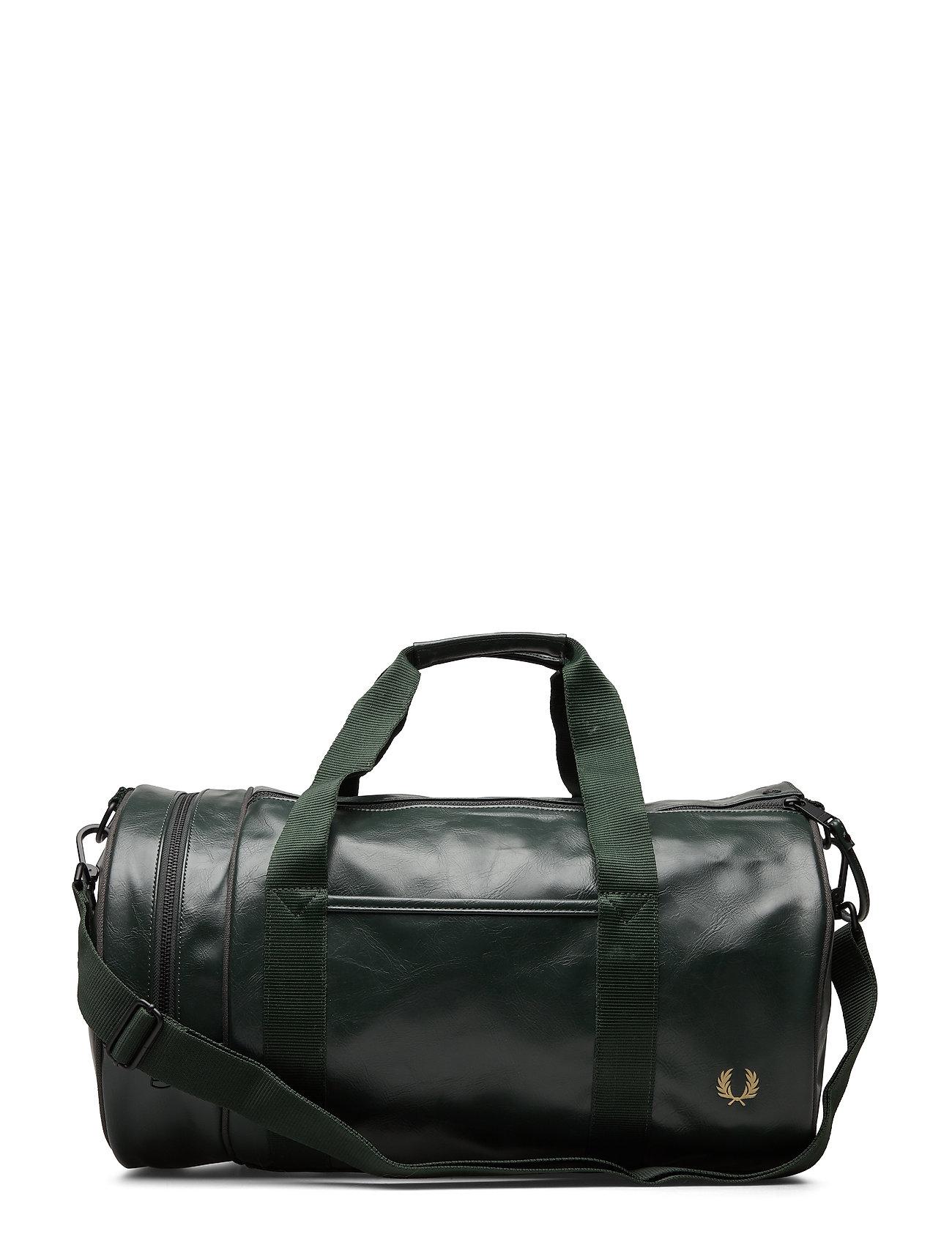 Fred Perry Tonal Pu Barrel Bag - DARK GREEN