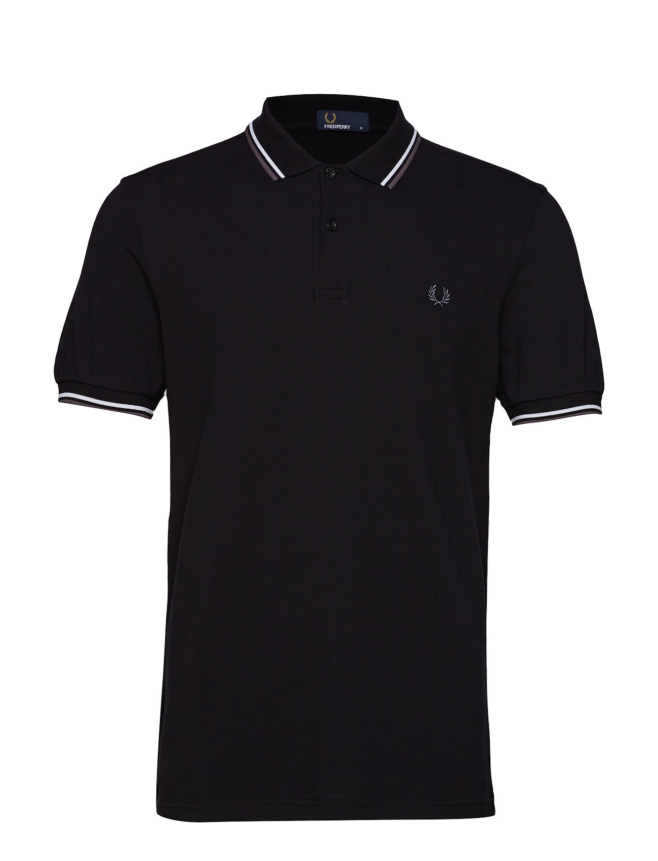 Twin Tipped Fp Shirt Polos Short-sleeved Musta Fred Perry