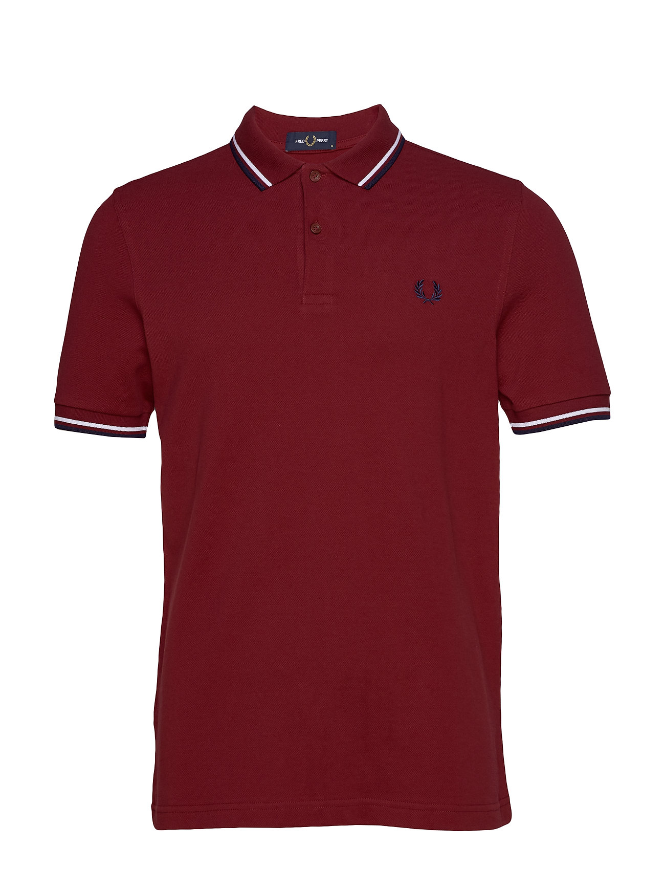 Fred Perry TWIN TIPPED FP SHIRT - DARK RED