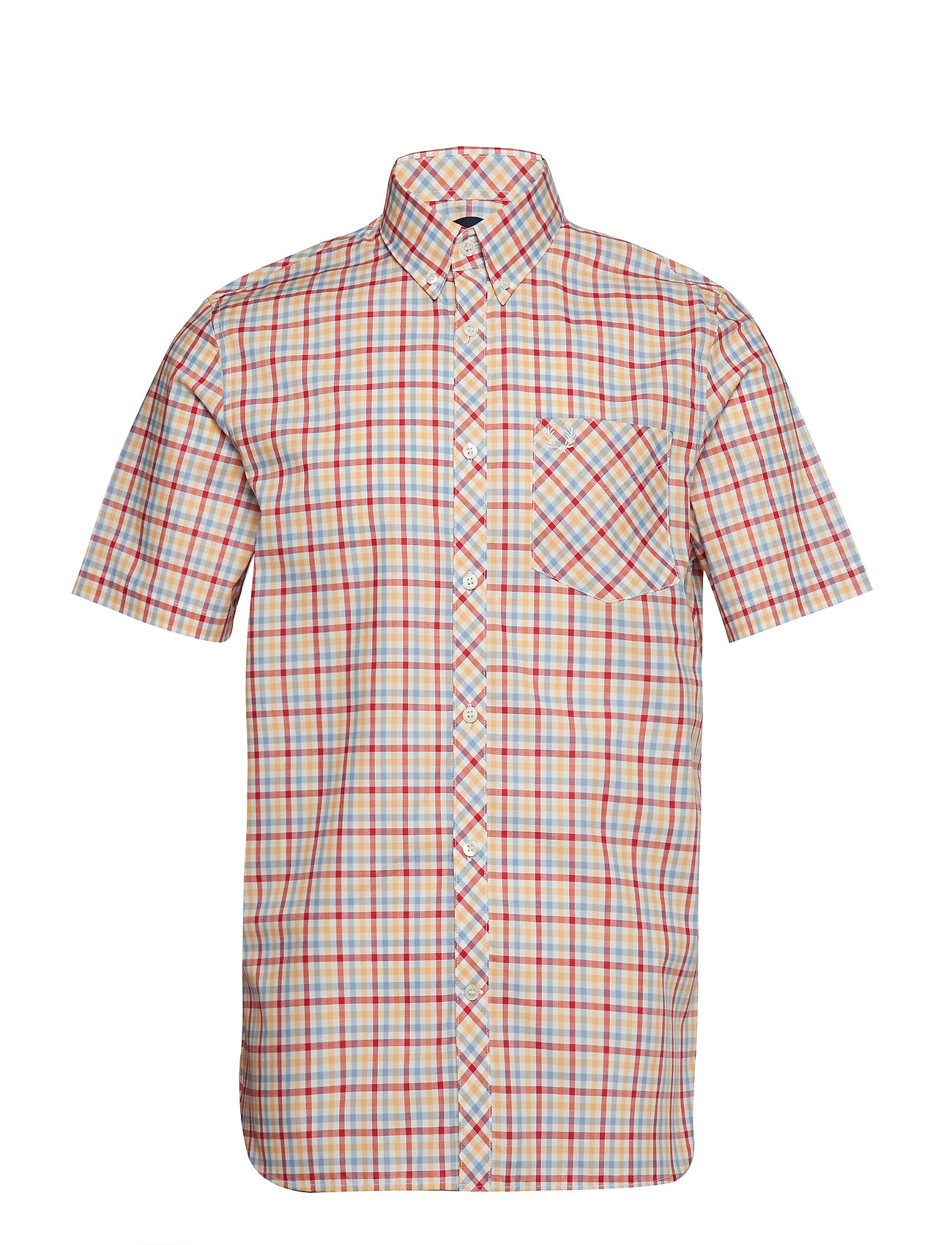 Fred Perry 4 COL GINGHAM SHIRT - SNOW WHITE