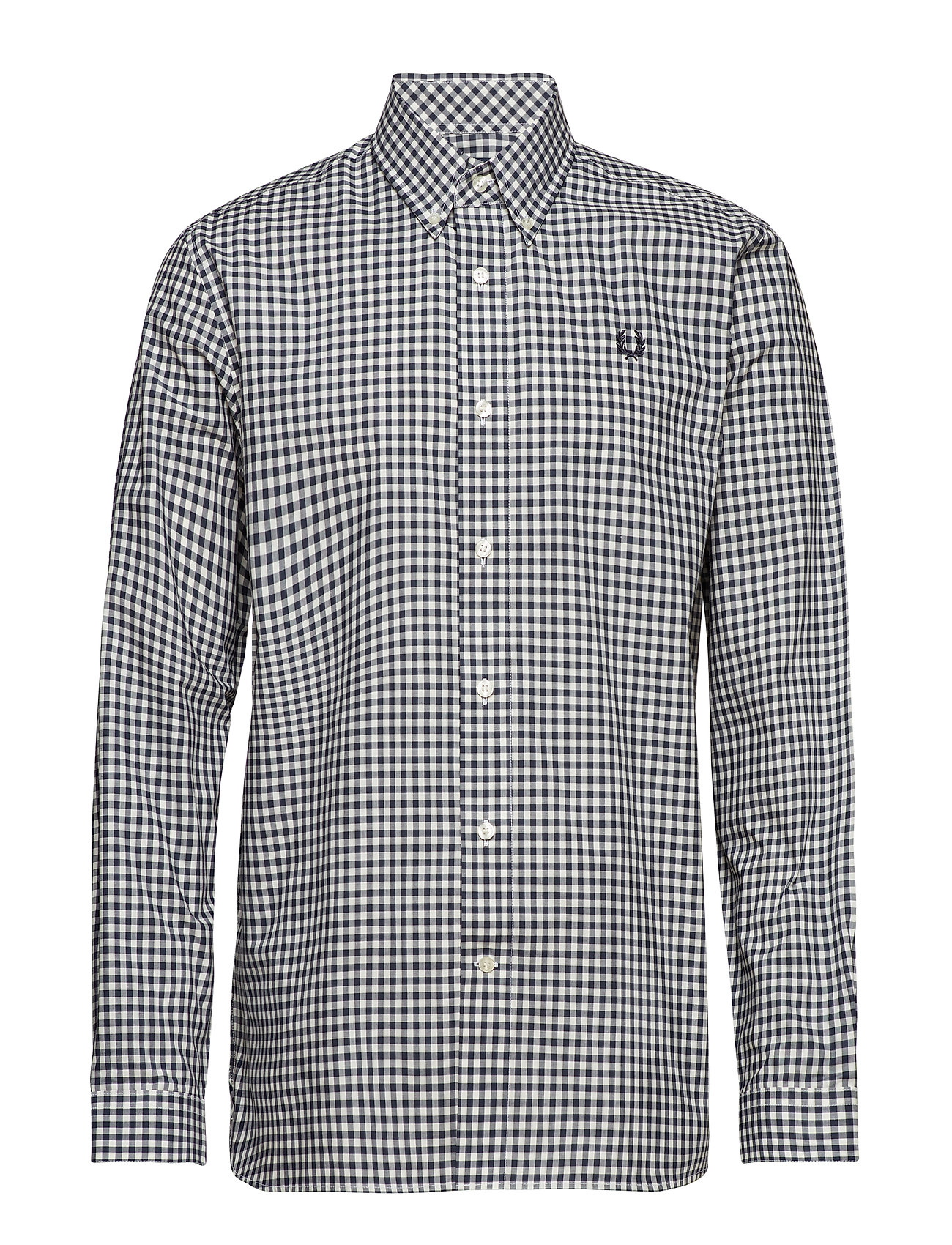 Fred Perry 2 COL GINGHAM SHIRT - DARK AIRFORCE