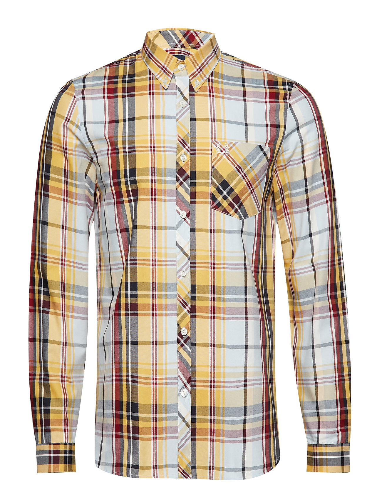 Fred Perry MADRAS CHECK SHIRT - SUNSET GOLD